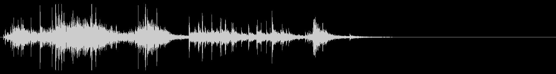 【生録音】お風呂 水の音 8の未再生の波形