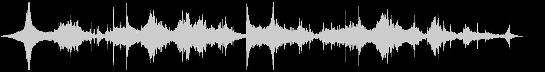 リバース音を使った不思議な幻想的BGMの未再生の波形