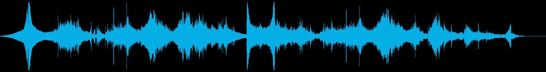 リバース音を使った不思議な幻想的BGMの再生済みの波形