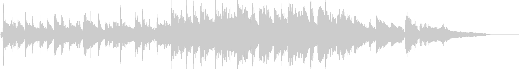 ピアノをメインとした爽やかな15秒楽曲の未再生の波形