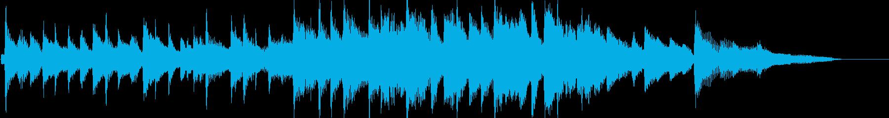 ピアノをメインとした爽やかな15秒楽曲の再生済みの波形