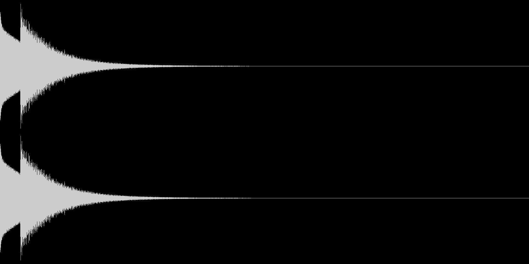 しっくりくるクイズの音 ピンポーン01の未再生の波形