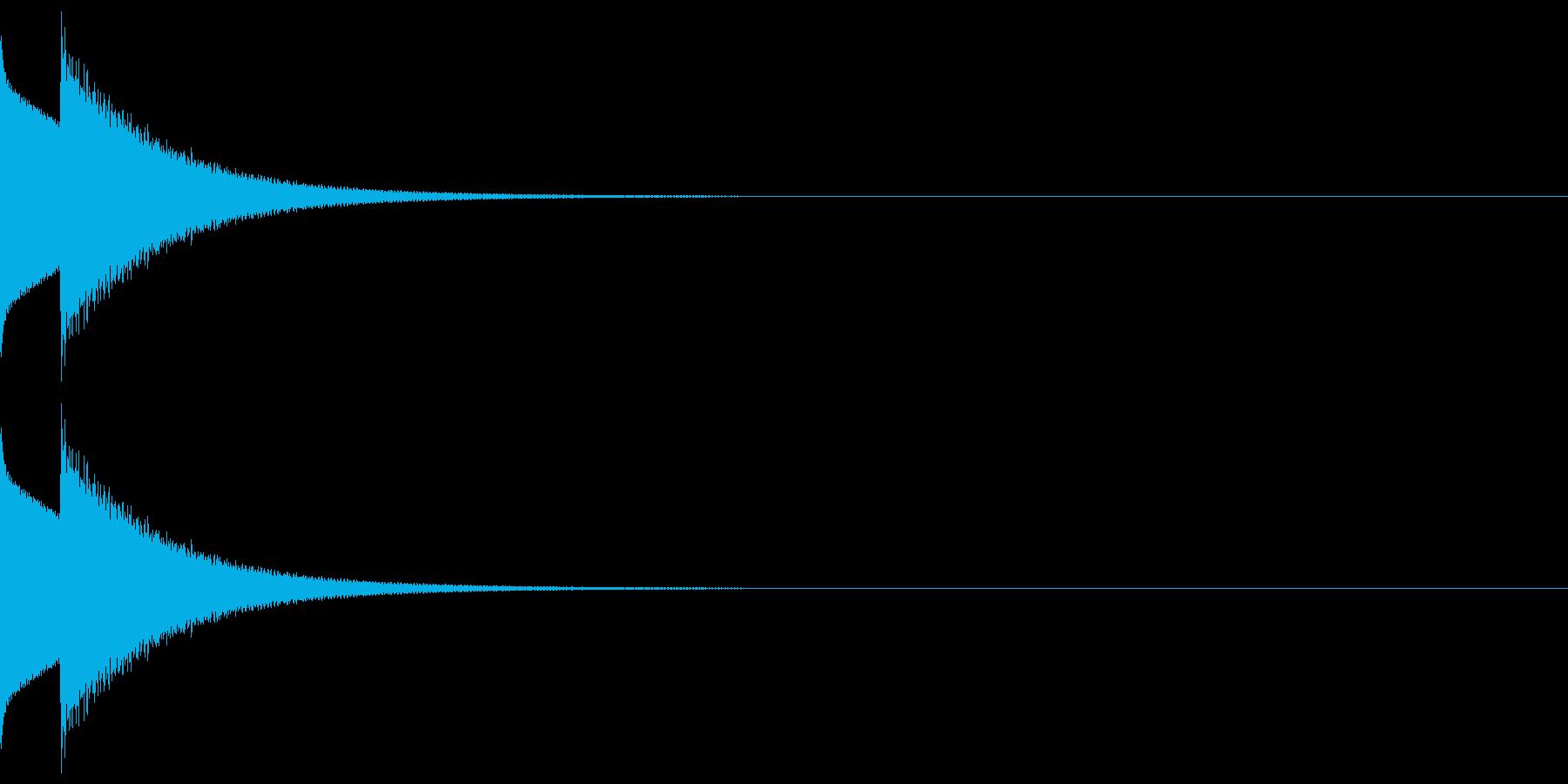 しっくりくるクイズの音 ピンポーン01の再生済みの波形