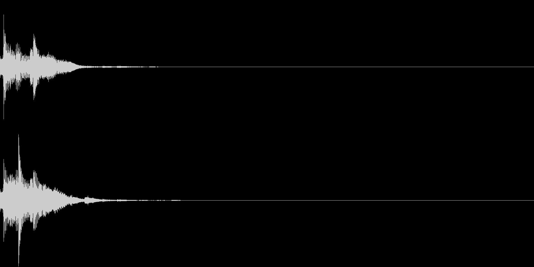 ボタン クリック コイン クレジットの未再生の波形