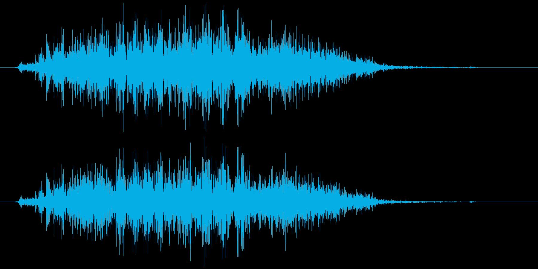スプレー噴射 シュー (短め)の再生済みの波形