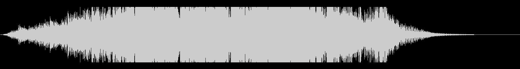 最先端を感じるデジタルノイズサウンドの未再生の波形