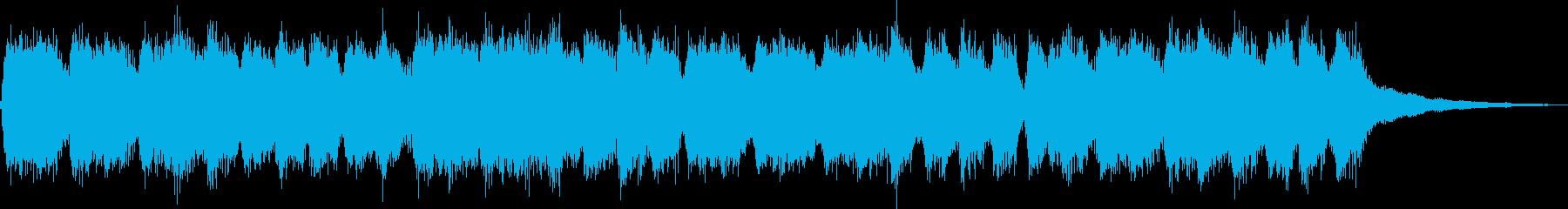 パイプオルガンを用いた華やかなジングルの再生済みの波形