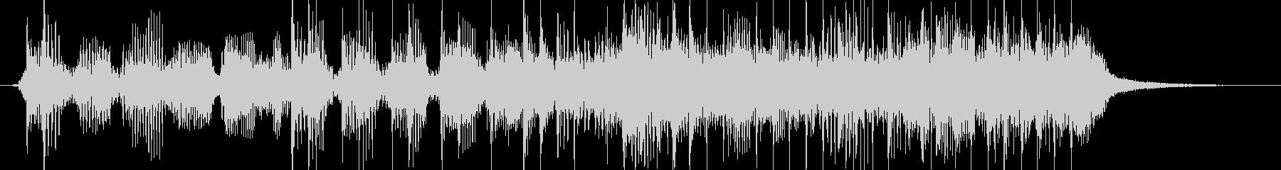 激しいロックベースサウンドのジングルの未再生の波形