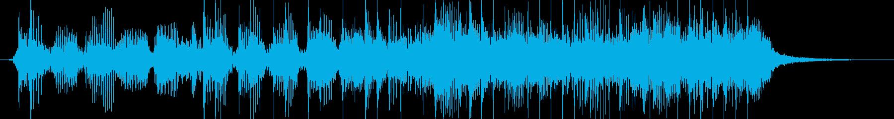 激しいロックベースサウンドのジングルの再生済みの波形