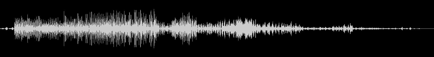 バックワードコンピューター音声、S...の未再生の波形