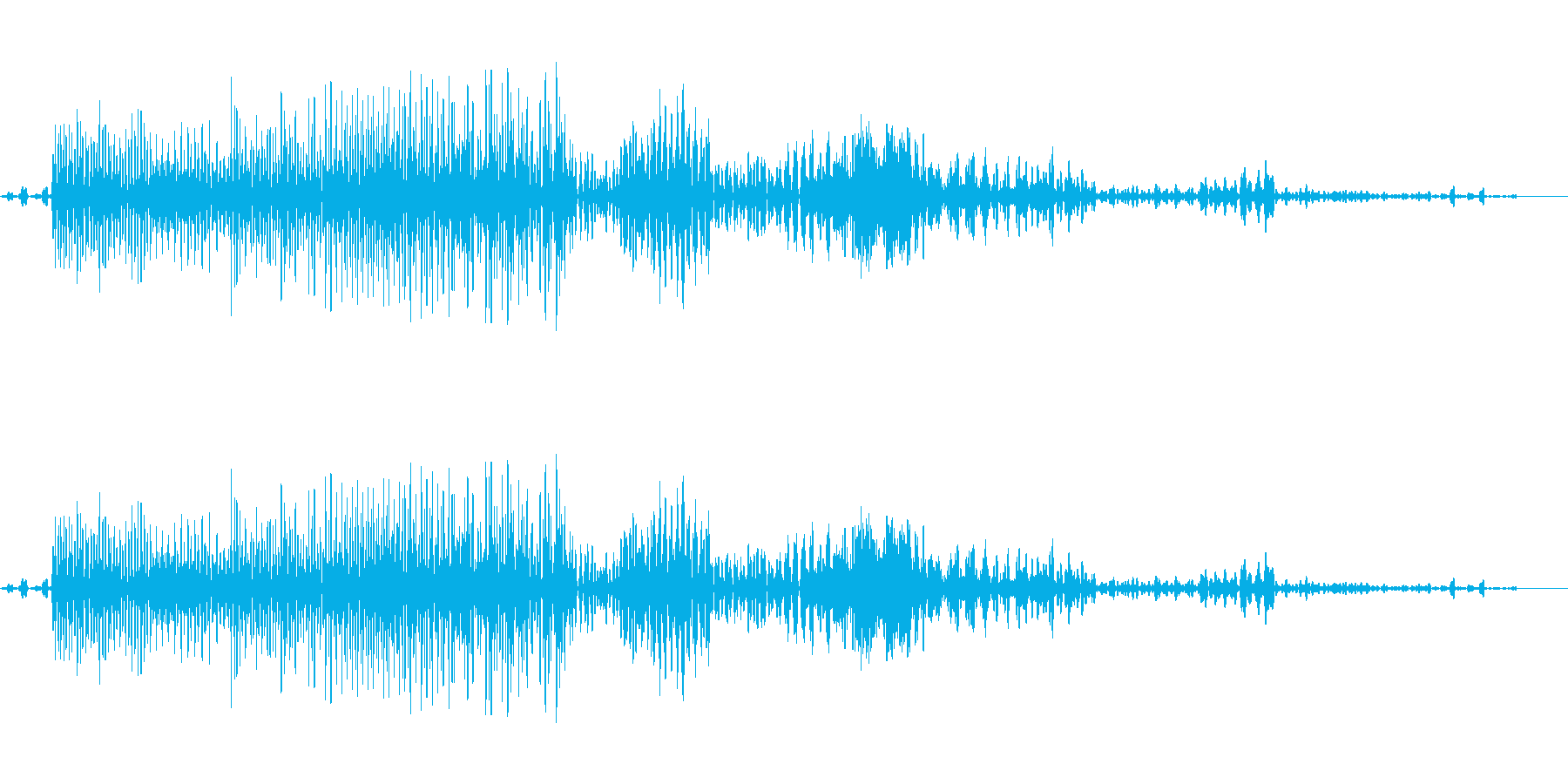 バックワードコンピューター音声、S...の再生済みの波形
