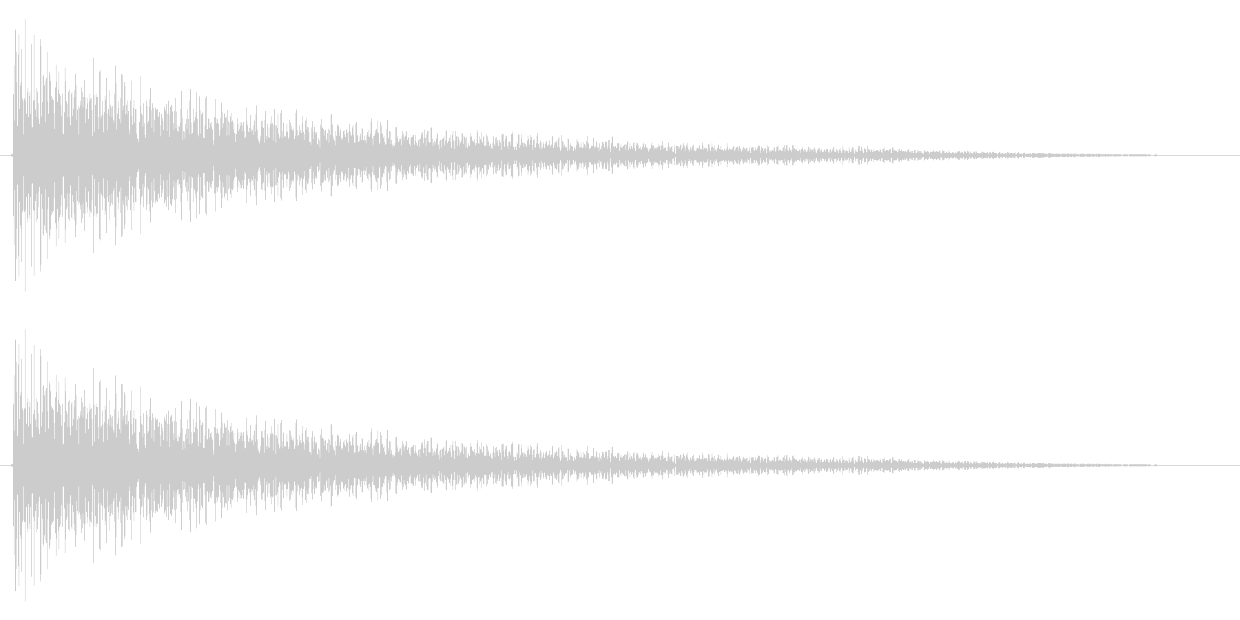 ガーンの未再生の波形