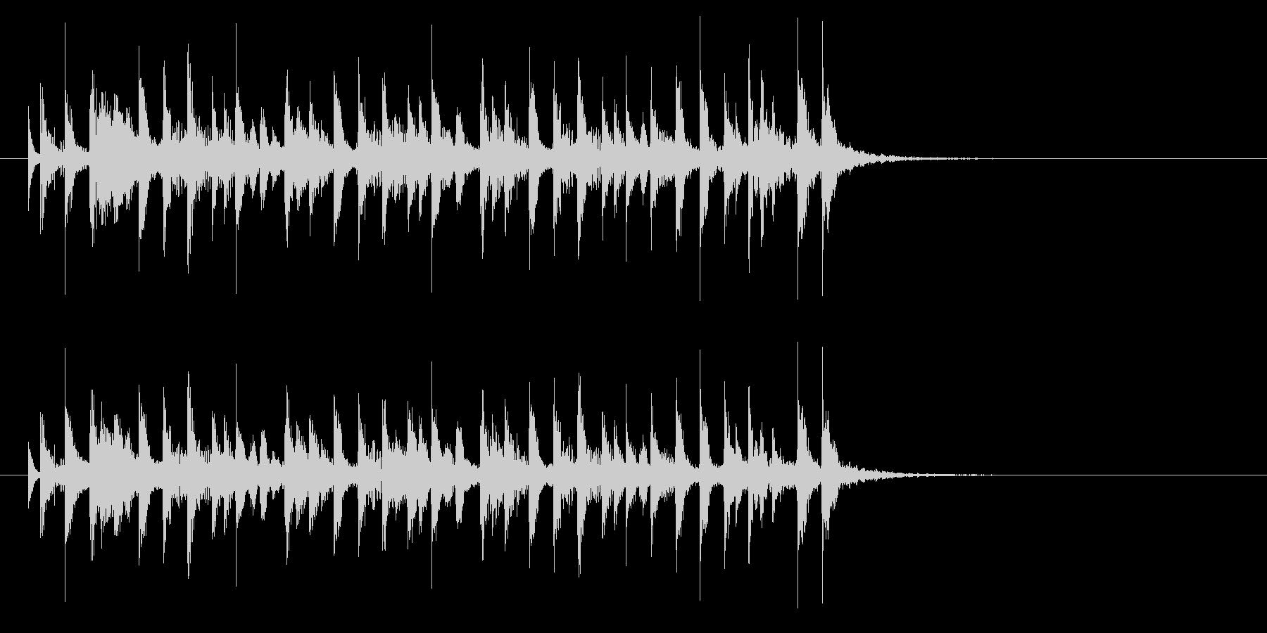 軽快で穏やかなシンセポップジングルの未再生の波形
