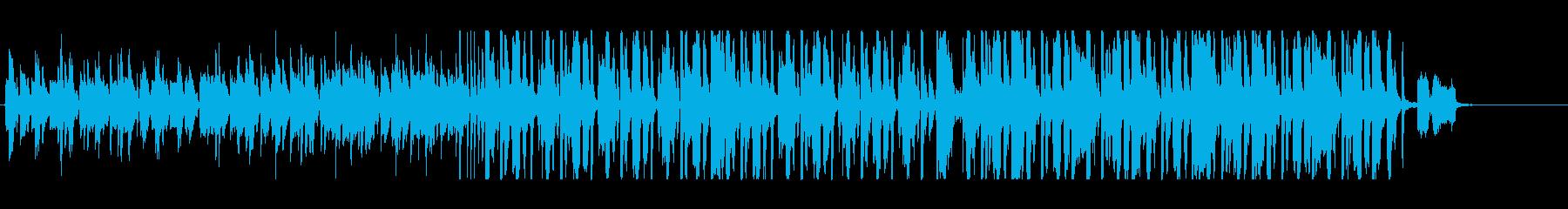 渋い感じの四つ打ちの再生済みの波形