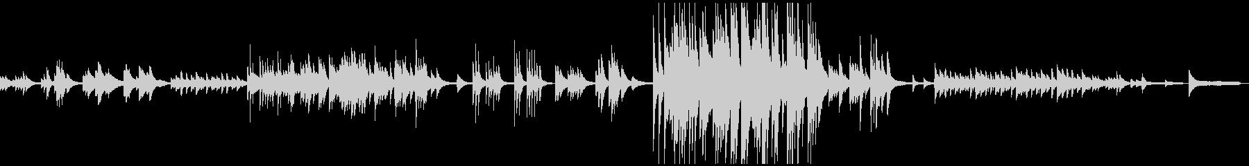 3:04しんみりと暖かく哀しいピアノ曲の未再生の波形