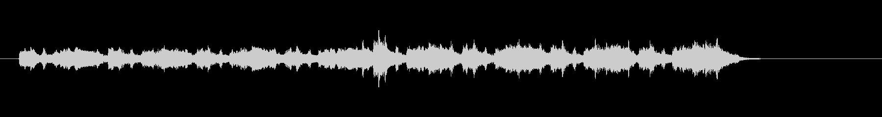 マイナー調バロック音楽風の未再生の波形