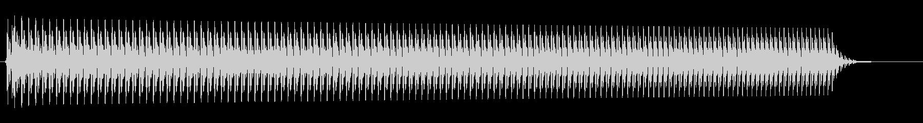 ブーン(上がっているエンジン音の効果音)の未再生の波形
