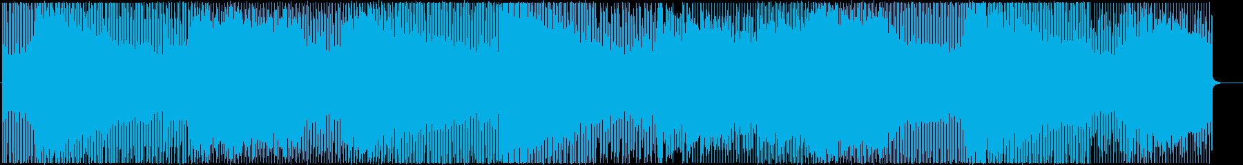 デジタル四つ打ちクールハウスの再生済みの波形