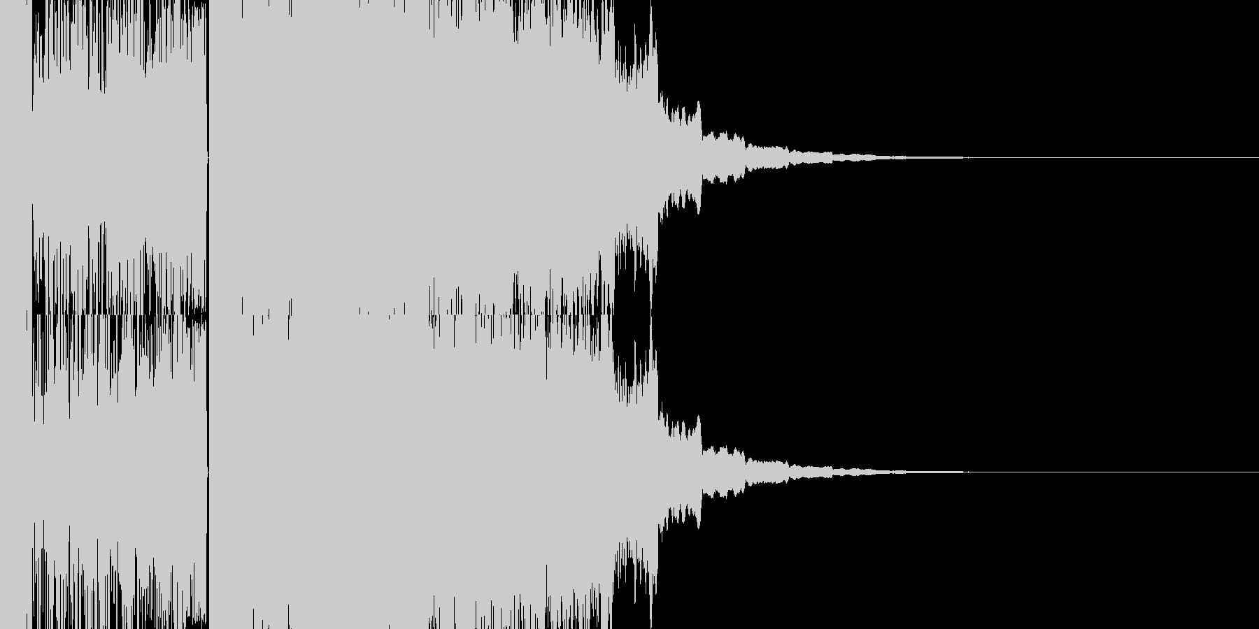 ドドドドドドドドパキーンの未再生の波形