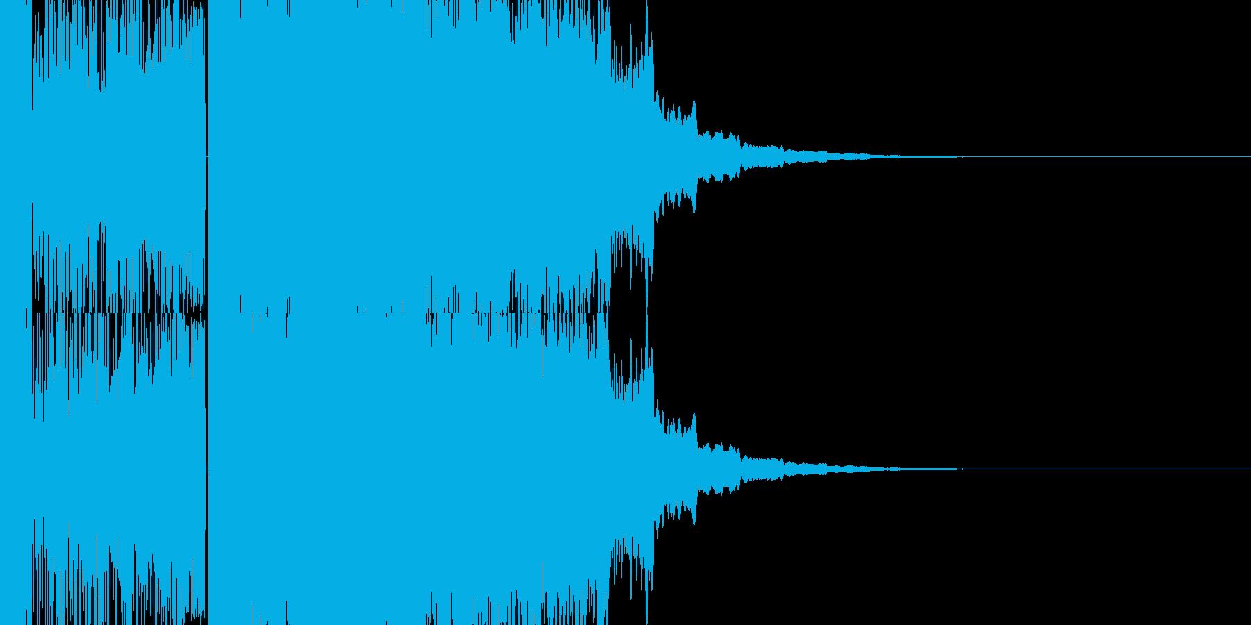 ドドドドドドドドパキーンの再生済みの波形