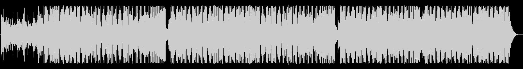 明るく優しいポップな四つ打ちBGMの未再生の波形