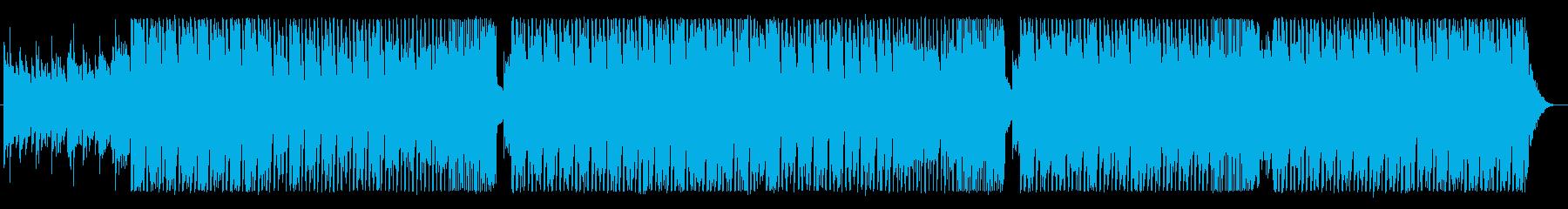 明るく優しいポップな四つ打ちBGMの再生済みの波形