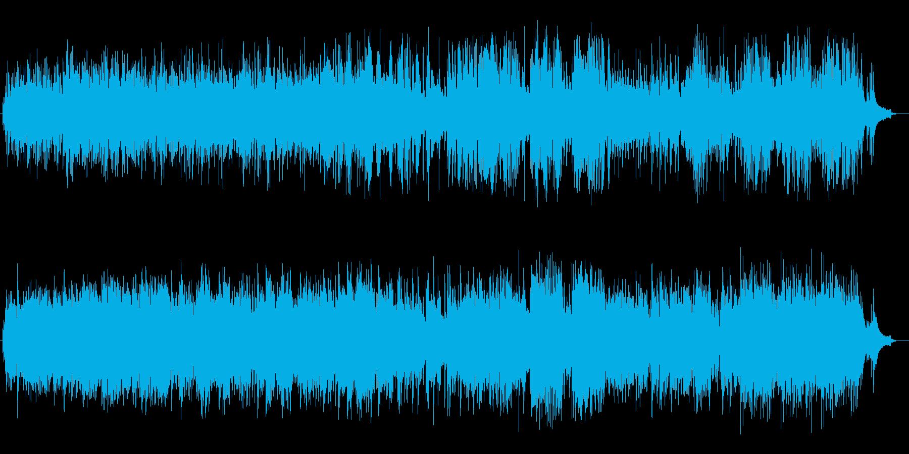 暗く哀愁漂うピアノ曲の再生済みの波形
