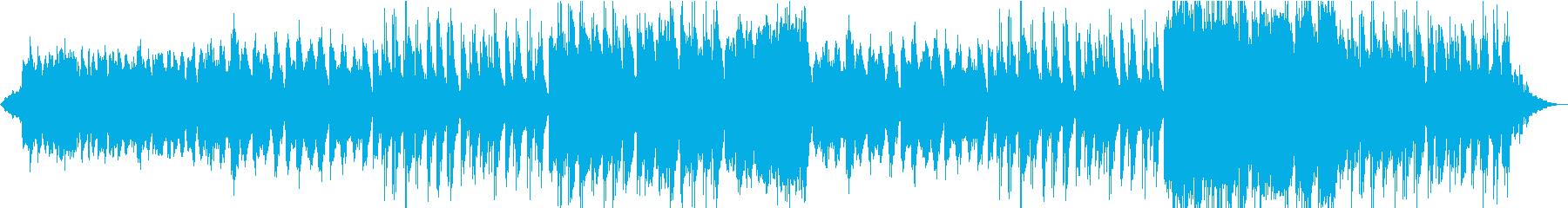 壮大な響きでゆっくりなメロディーの再生済みの波形