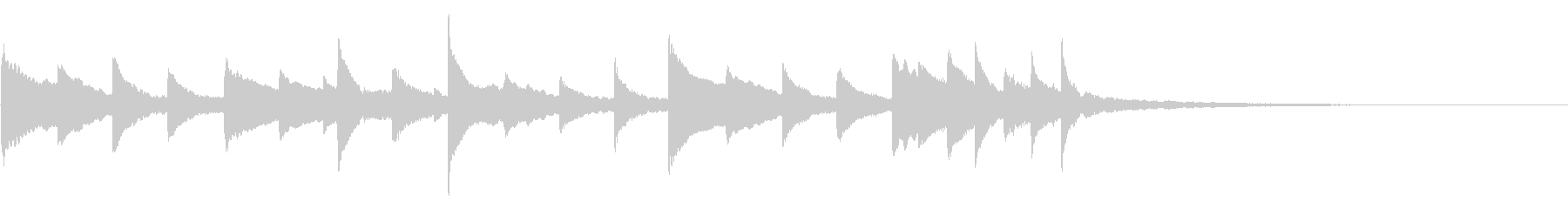 キラキラ ピアノ 瑞々しい 光の未再生の波形