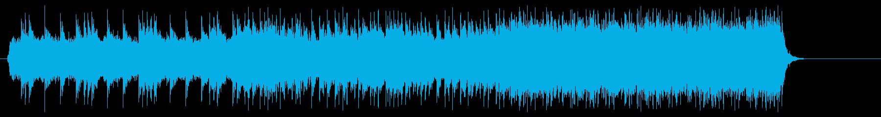 ヘヴィーでアメリカンなパワフルテーマの再生済みの波形