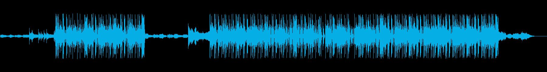 綺麗なコードのキーボードが印象的なビートの再生済みの波形