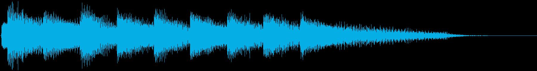 落ち着いた雰囲気の優しいピアノジングルの再生済みの波形