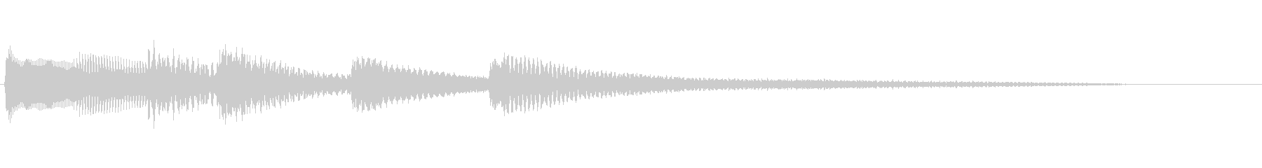 【生演奏】少し不協和音のピアノジングルの未再生の波形