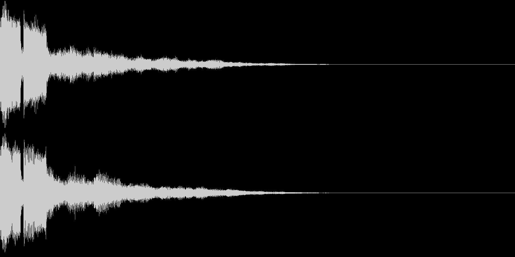 ピコン ピコ チャリン 開くの未再生の波形