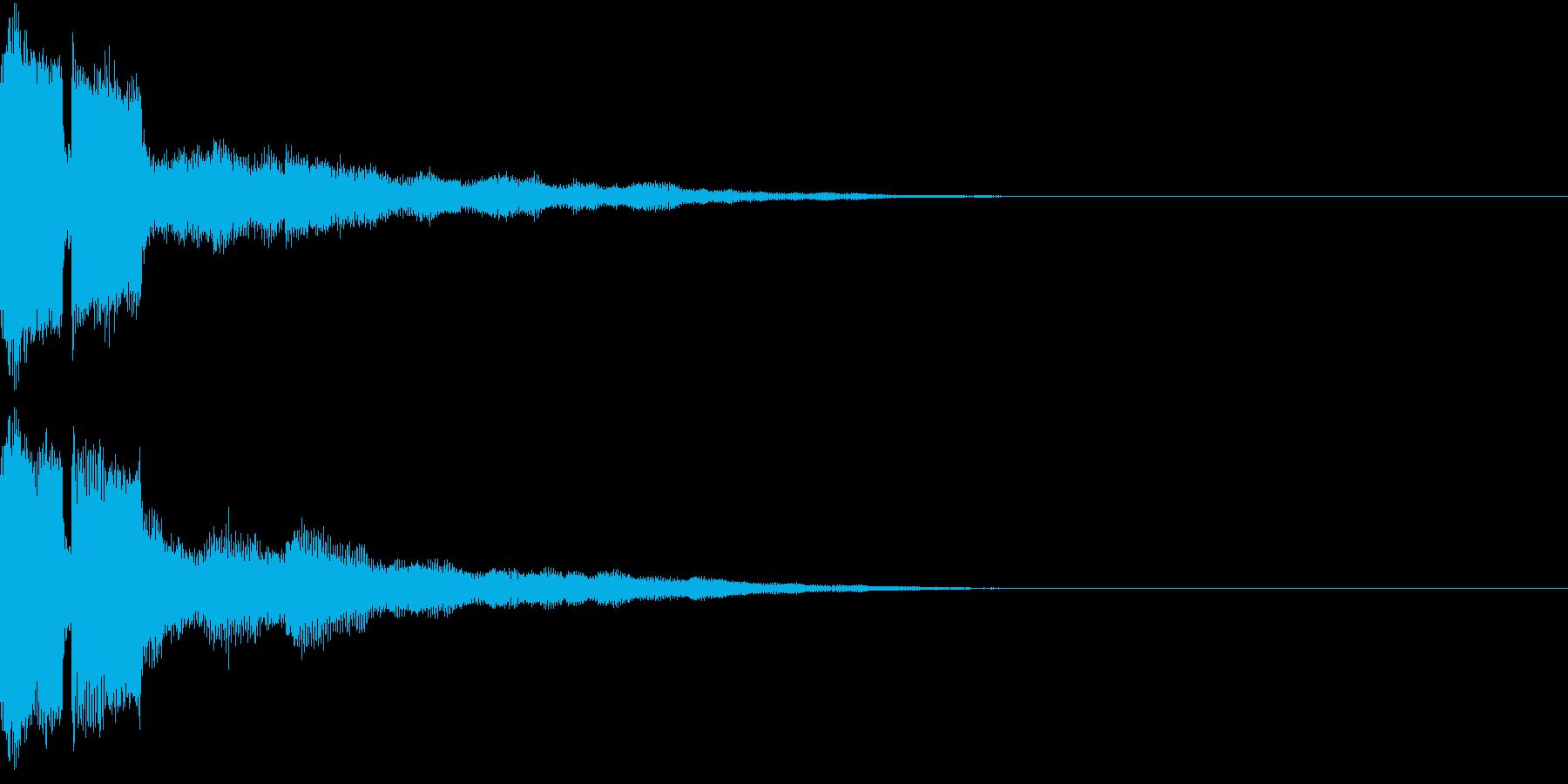 ピコン ピコ チャリン 開くの再生済みの波形