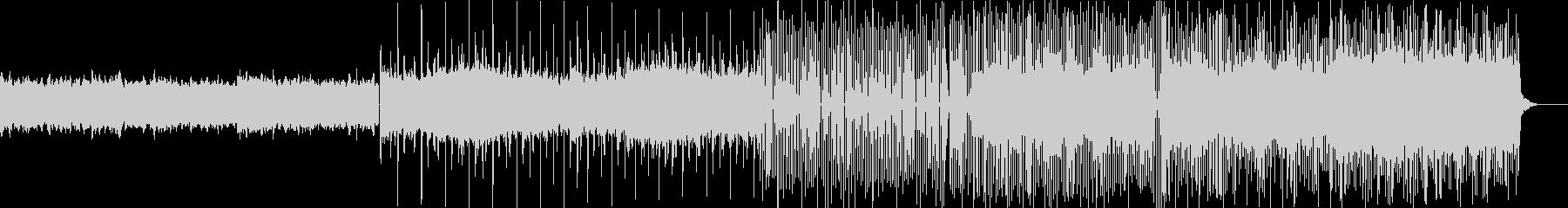 森が開拓されるようなイメージの電子音楽の未再生の波形