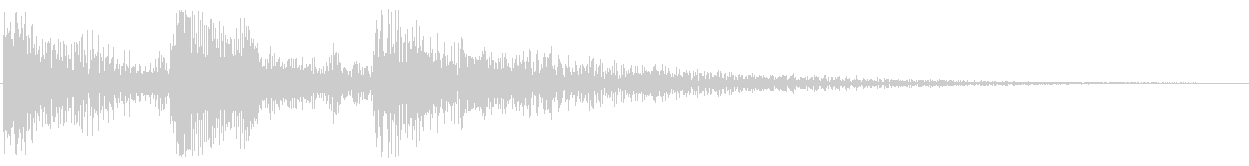 テロリン ピロロン 上昇 トイピアノ の未再生の波形