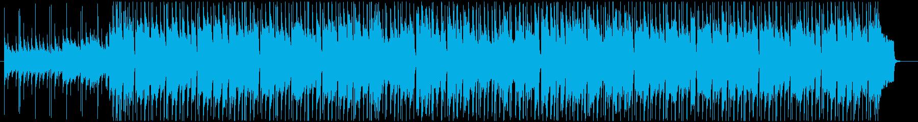 ほのぼのした日常感のあるポップスBGMの再生済みの波形
