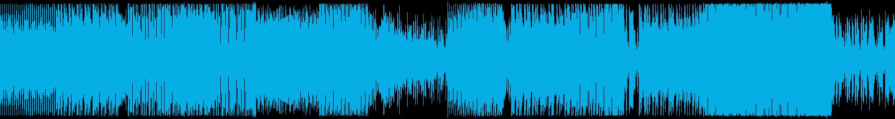 レトロゲームっぽい懐かしい雰囲気のBGMの再生済みの波形
