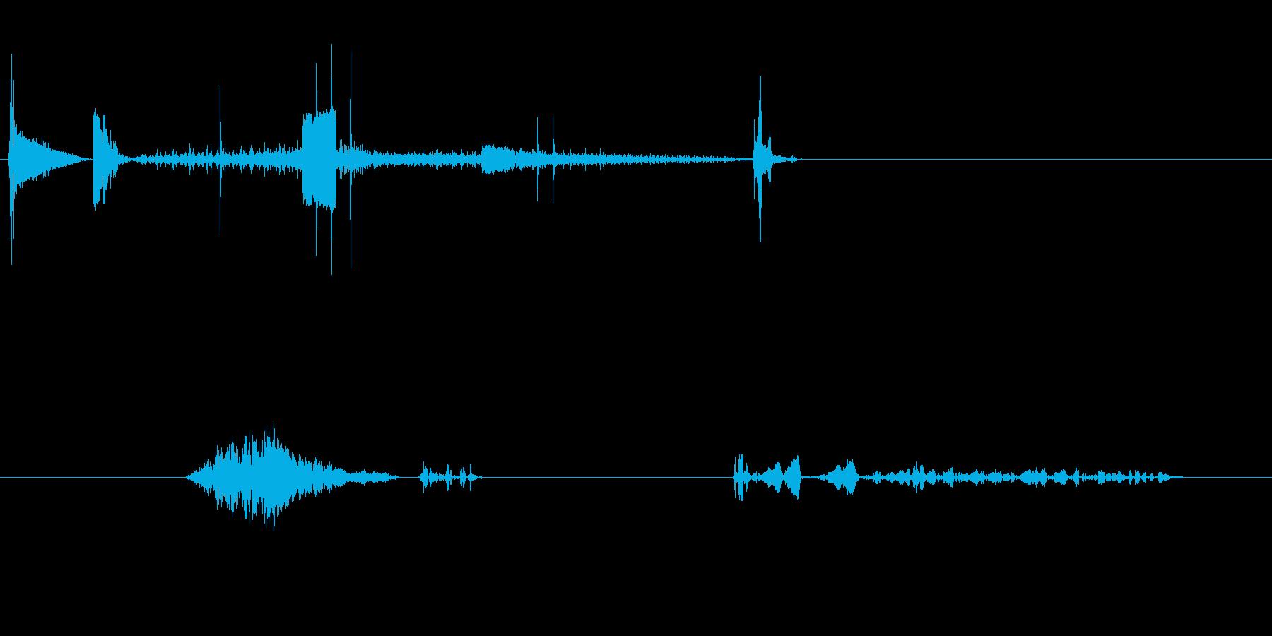 ロボットは非常識になります。左、右...の再生済みの波形