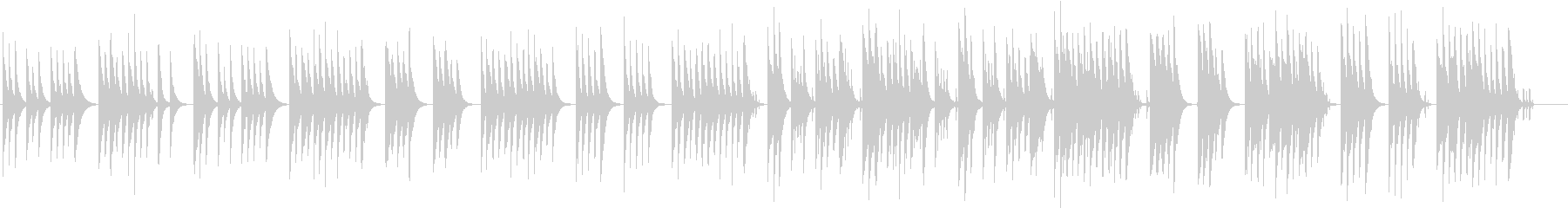 木琴の音が特徴のほのぼのとしたかわいい曲の未再生の波形