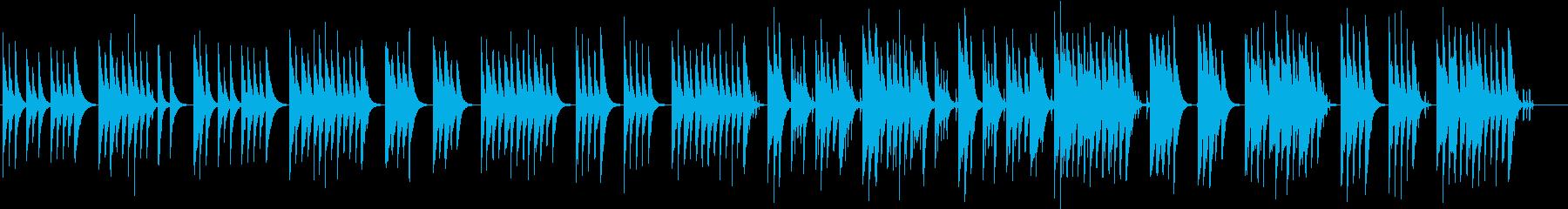 木琴の音が特徴のほのぼのとしたかわいい曲の再生済みの波形