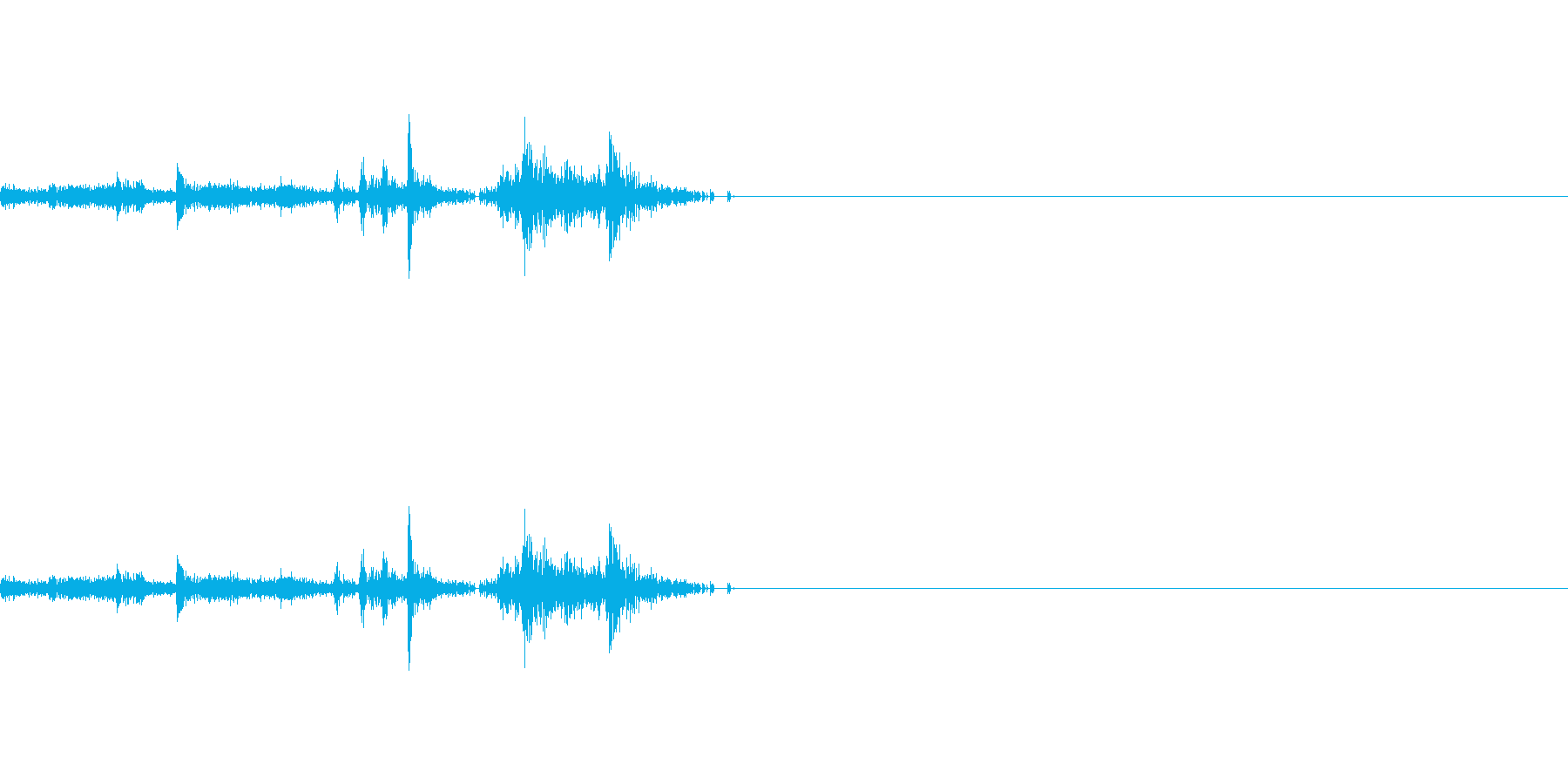 本のページをめくる音 2の再生済みの波形