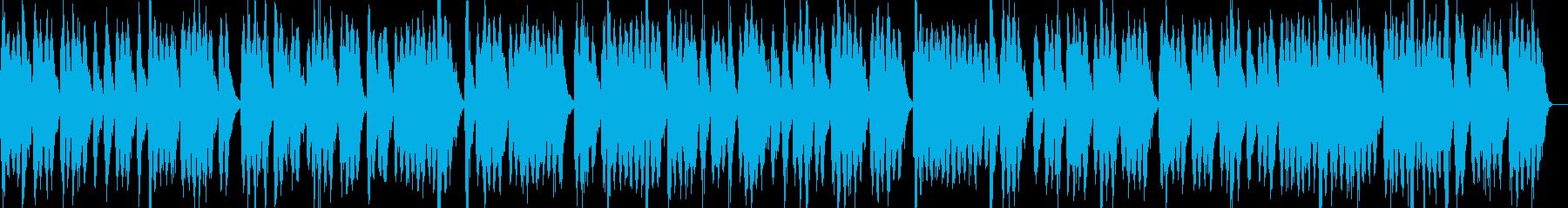 80年代のSFにありそうな宇宙船の環境音の再生済みの波形