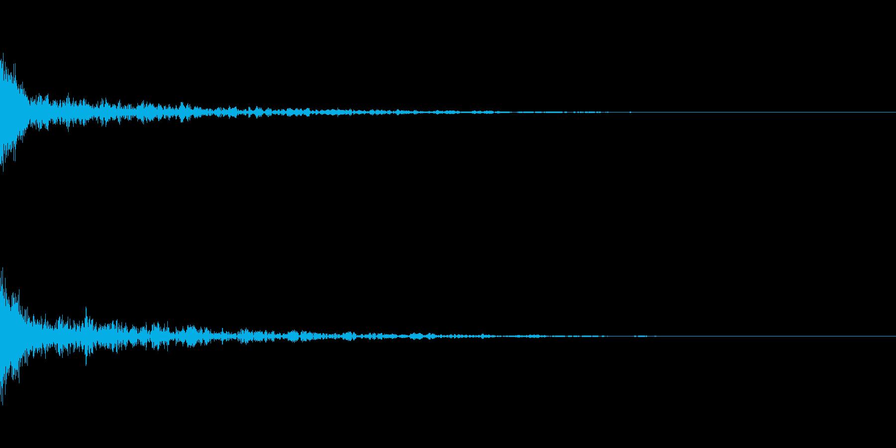 ドーン-42-1(インパクト音)の再生済みの波形