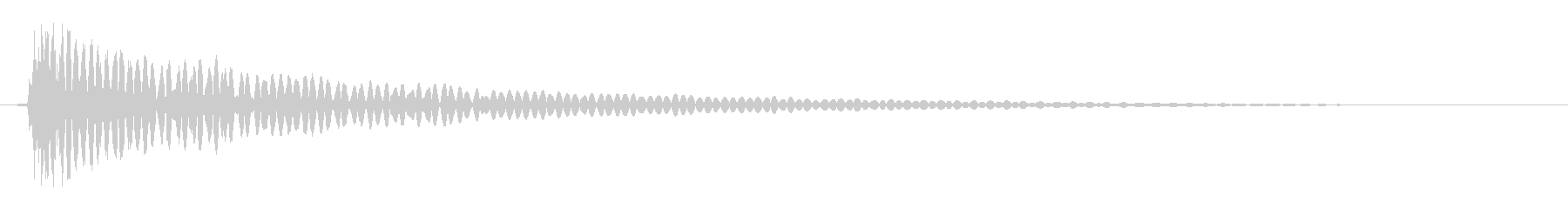 ドン(太鼓を叩いたようなキレの良い低音)の未再生の波形