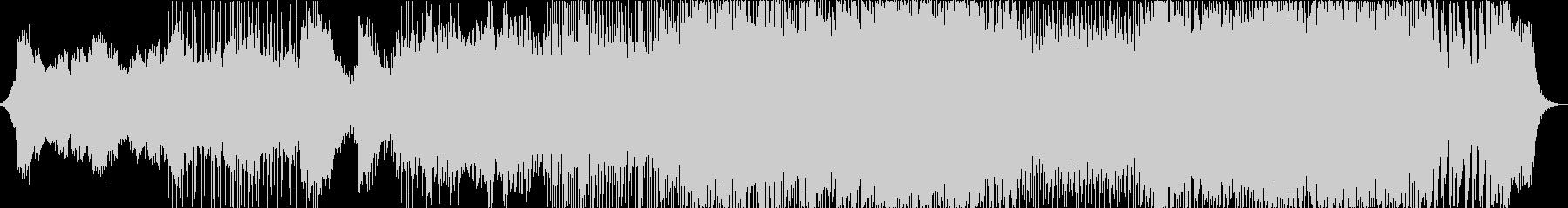 激しいメタル調のオーケストラバトルBGMの未再生の波形