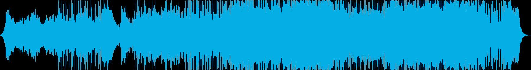 激しいメタル調のオーケストラバトルBGMの再生済みの波形