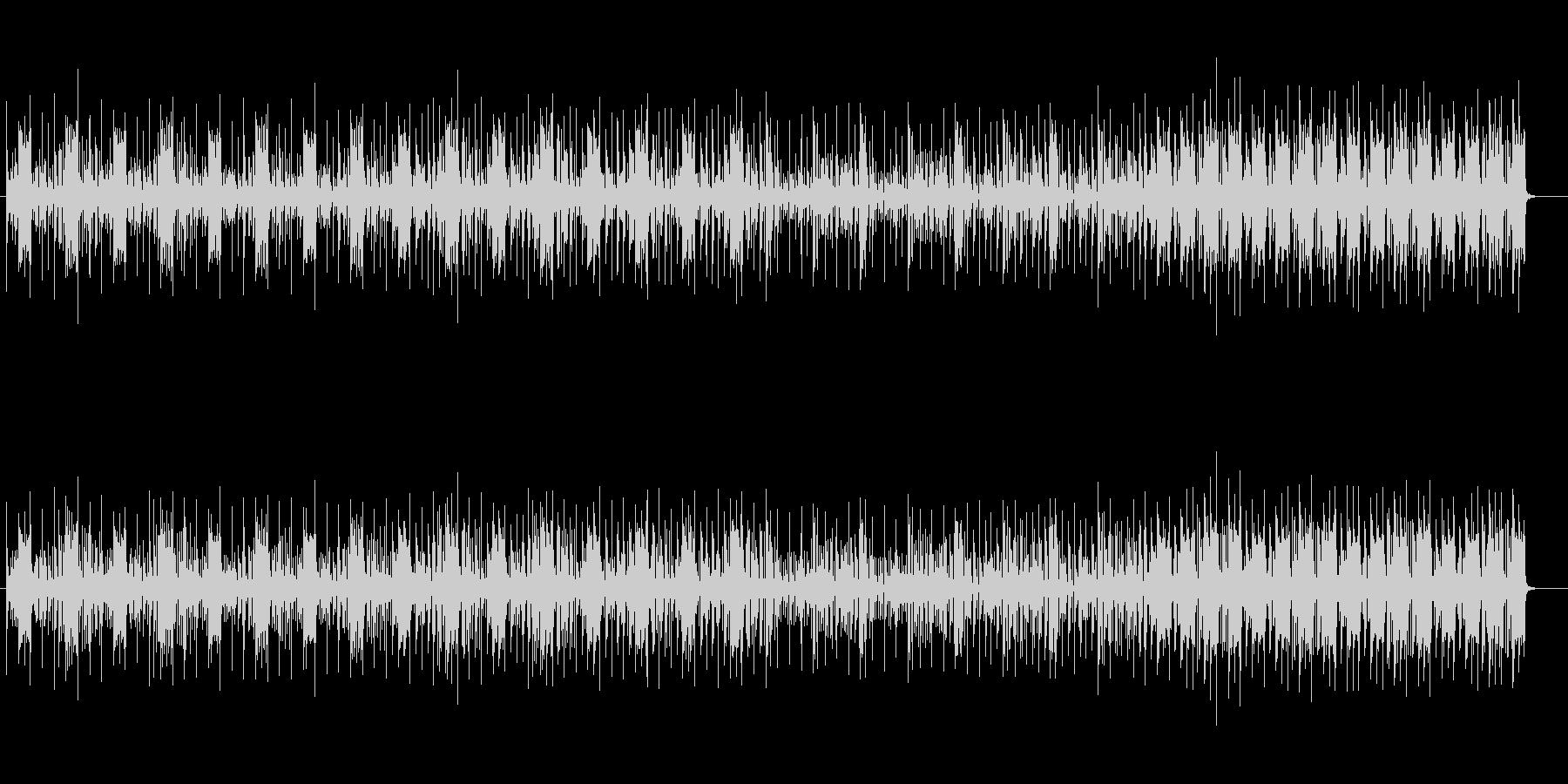 重低音が響く空間的なテクノの曲の未再生の波形