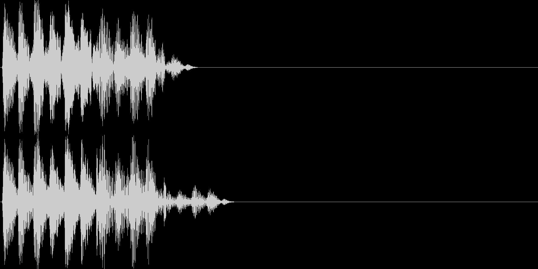 【ポコッ】ファミコン系 敵を倒す音_03の未再生の波形